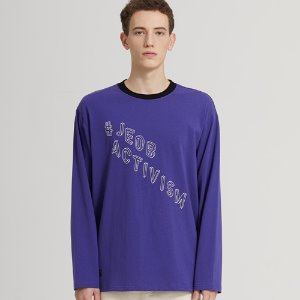 SEMI-OVER JB LOGO LONG SLV_PURPLE