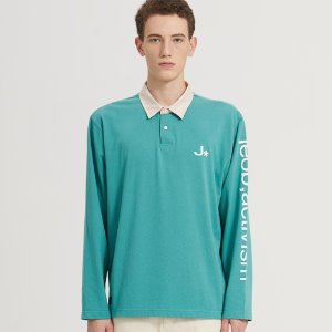 SEMI-OVER RUGBY LONG SLV_DARK MINT