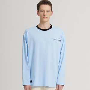 SEMI-OVER ADDRESS LOGO LONG SLV_SKY BLUE