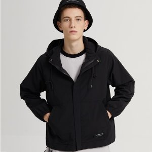 SPAN HOOD ZIP-UP JACKET_BLACK