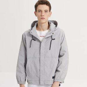 SPAN HOOD ZIP-UP JACKET_GRAY