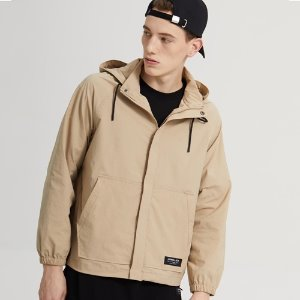 SPAN HOOD ZIP-UP JACKET_BEIGE